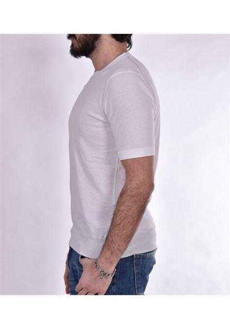 White Hosio knitted t-shirt HOSIO   T-shirts   100M0308