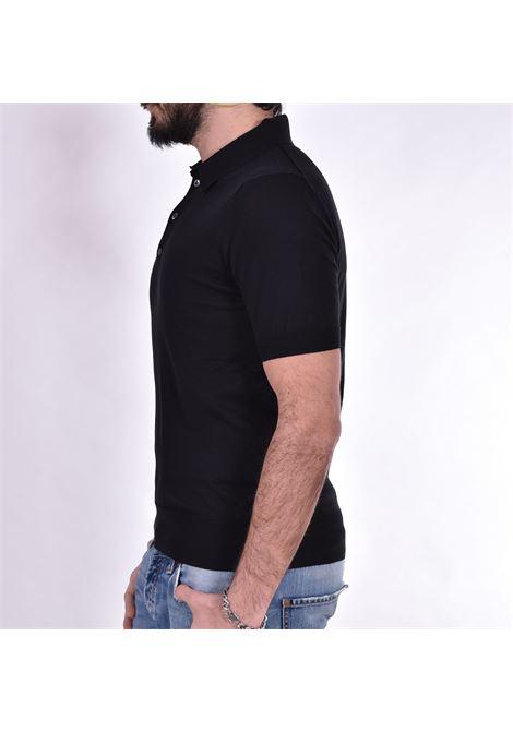 Hosio black jersey polo shirt HOSIO | polo | 100M1101