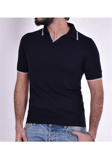 Polo Hosio collo V blu HOSIO | Polo | 103M3940