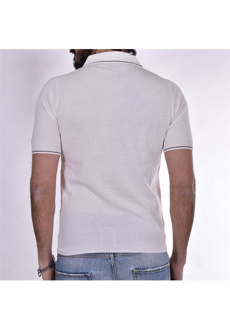 Hosio white V neck polo shirt HOSIO |  | 103M3988