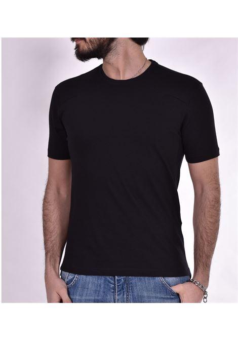T-shirt Hosio doppio collo nera HOSIO | T-shirt | 200J0101