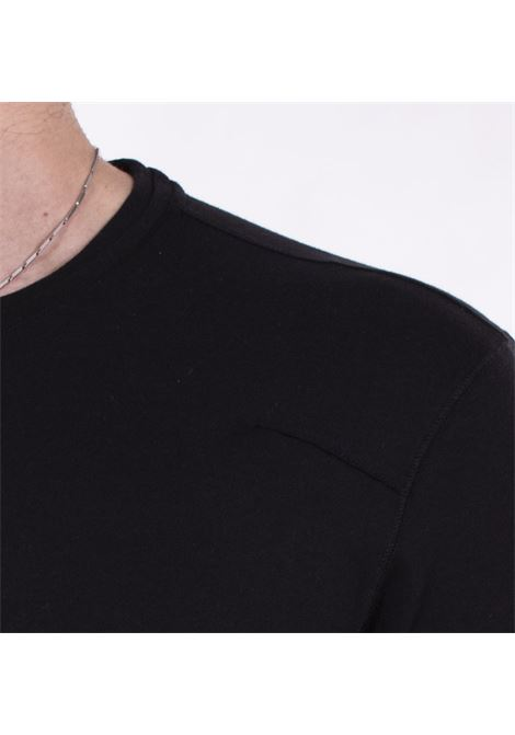 T-shirt Hosio doppio collo nera HOSIO | 200J0101