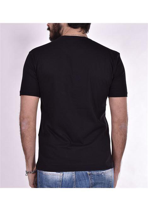 T-shirt Hosio doppio collo nera HOSIO   T-shirt   200J0101