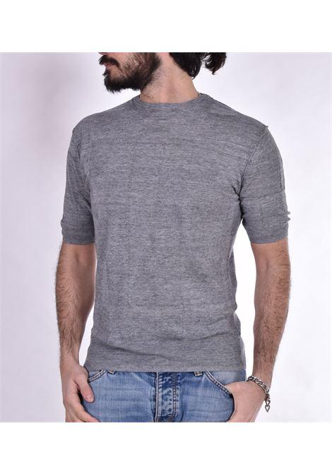 Maglia Hosio mezza manica quadri lino HOSIO | T-shirt | 21105M3214