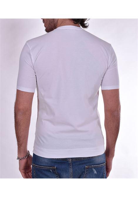 T shirt Hosio serafino bottoni bianca HOSIO | T-shirt | 2120708