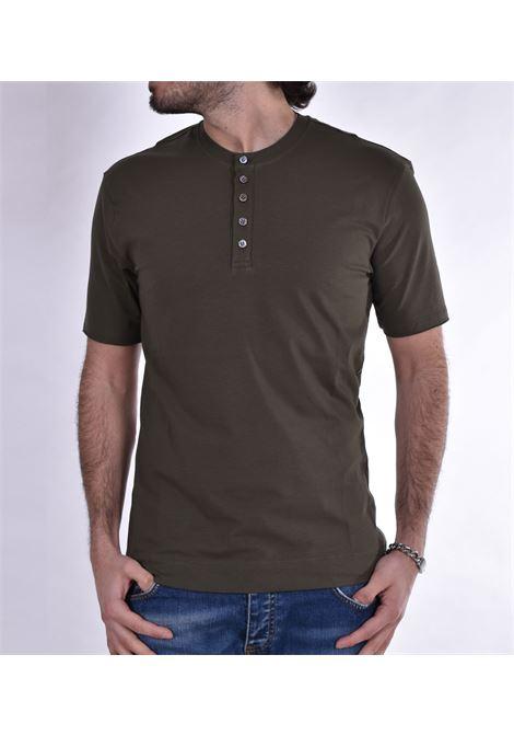 T shirt Hosio serafino bottoni verde HOSIO | T-shirt | 2120746