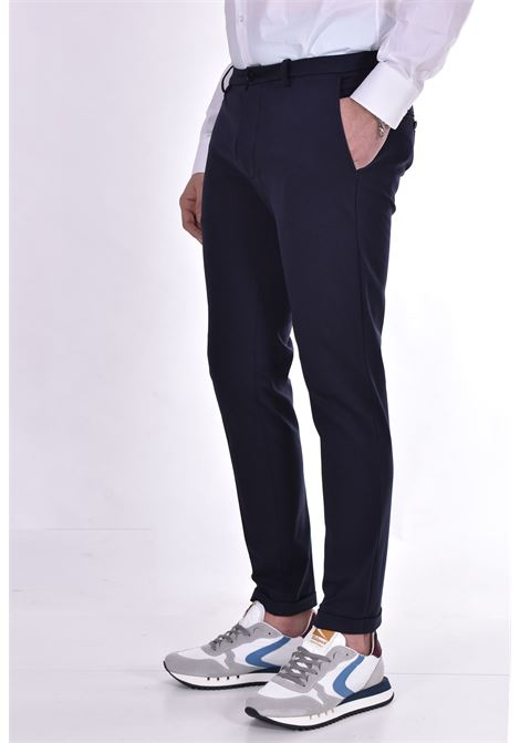 Blue slim fit Hosio trousers HOSIO | 21409P101R40