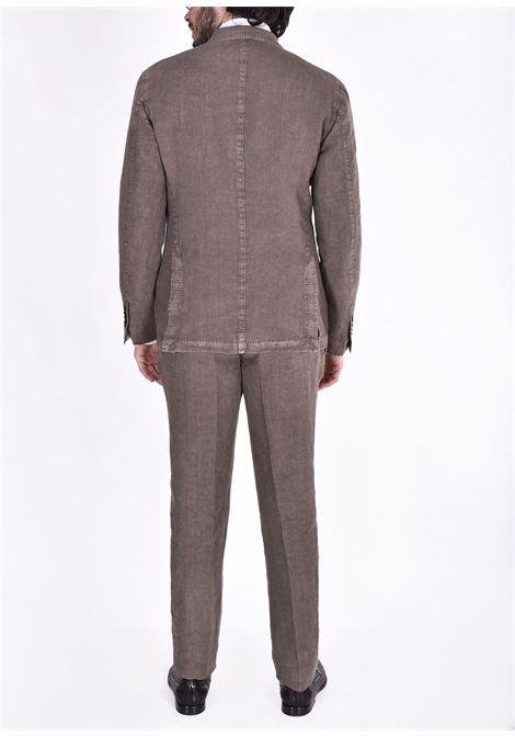 LBM brown linen suit L.B.M. 1911 by Lubiam | 5833 38337