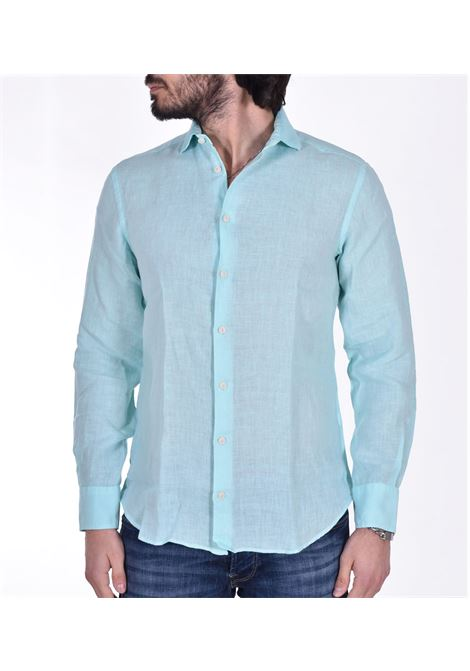 MC2 pamplona linen shirt green water MC2 SAINT BARTH | Shirts | 56N1