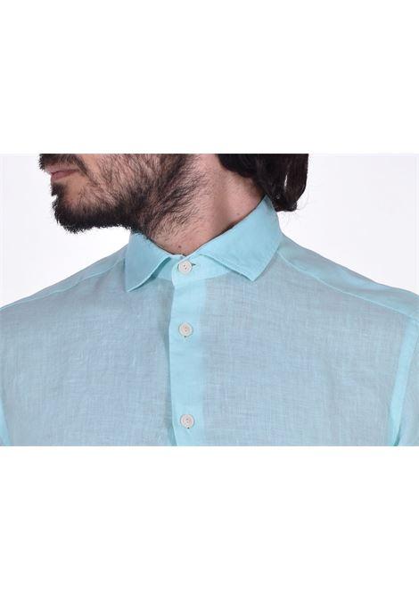 MC2 pamplona linen shirt green water MC2 SAINT BARTH | Shirts | 56N1
