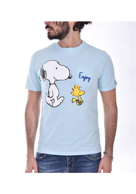 T shirt Mc2 snoopy enjoy celeste MC2 SAINT BARTH | T-shirt | EBSE5601