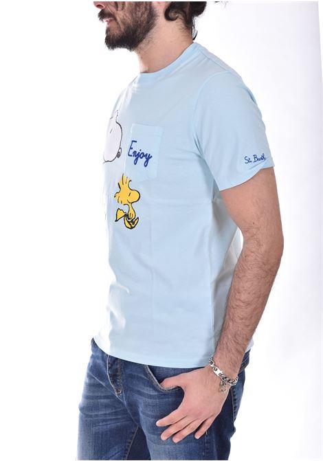 T shirt Mc2 snoopy enjoy celeste MC2 SAINT BARTH | EBSE5601