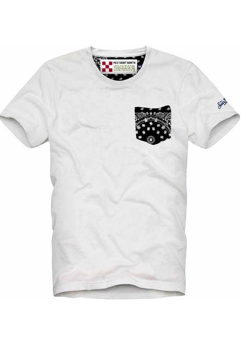 MC2 jumbo white foulard t-shirt MC2 SAINT BARTH | T-shirts | JMFU01
