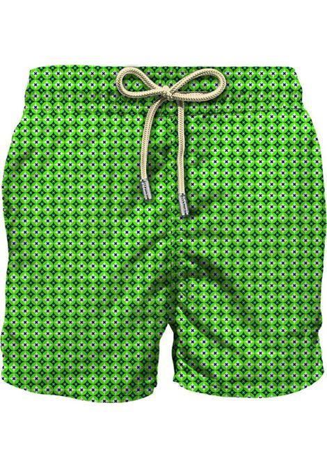 MC2 rhomboid cross green blue swim shorts MC2 SAINT BARTH | Swimsuits | RMCR6775