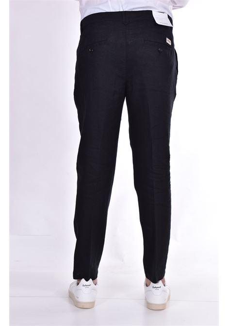 Pantalone Officina 36 lino nero nevio OFFICINA 36 | 026620826601