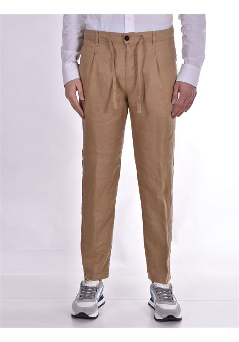 Pant Officina 36 linen camel nevio OFFICINA 36 | Trousers | 026620826603