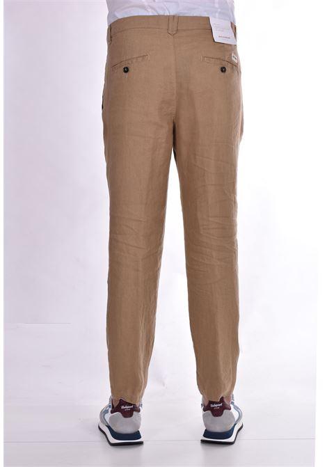 Pantalone Officina 36 lino cammello nevio OFFICINA 36   Pantaloni   026620826603