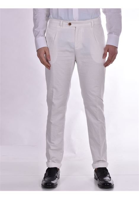 Officina 36 white linen trousers OFFICINA 36 | Trousers | 2873CP1