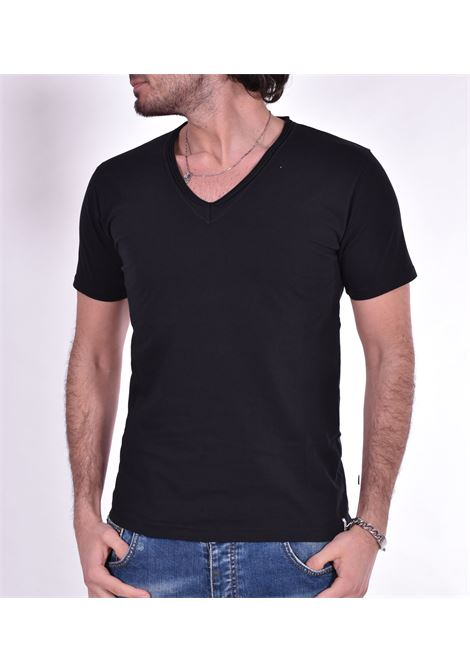 T shirt Officina 36 scollo V nera OFFICINA 36 | T-shirt | AM611