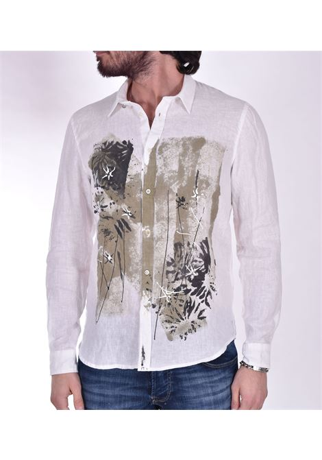 Officina 36 linen shirt print OFFICINA 36 | Shirts | D778010