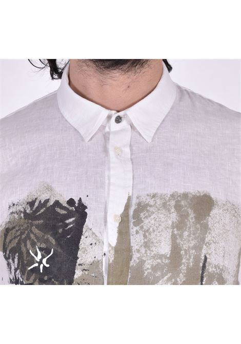 Officina 36 linen shirt print OFFICINA 36 | Shirts | D778010