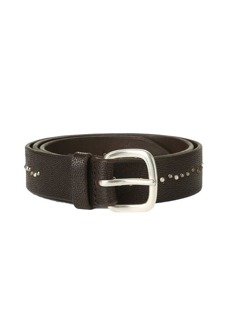 Orciani frog belt with dark brown studs ORCIANI | Belts | U078701