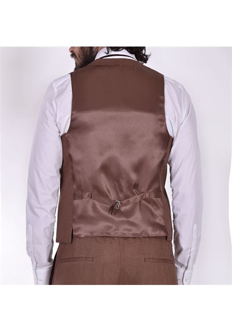 Gilet Outfit Italy il gobbo cacao lino OUTFIT ITALY | Gilet | 001027
