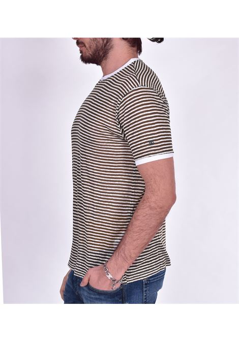 T-shirt Outfit Italy righe verde OUTFIT ITALY | T003131