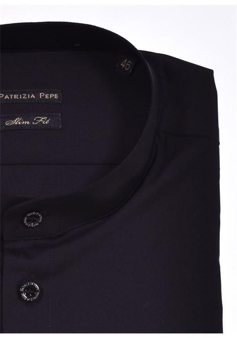 Camicia Patrizia Pepe uomo coreana nera PATRIZIA PEPE | 5C0257K102
