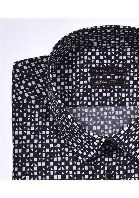 Patrizia Pepe shirt black white pattern PATRIZIA PEPE   Shirts   5C055BFB66