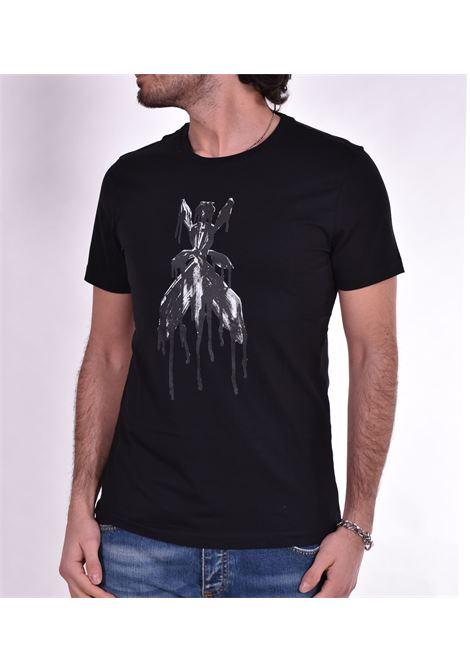 Patrizia Pepe black t shirt print PATRIZIA PEPE | T-shirts | 5M1304K102