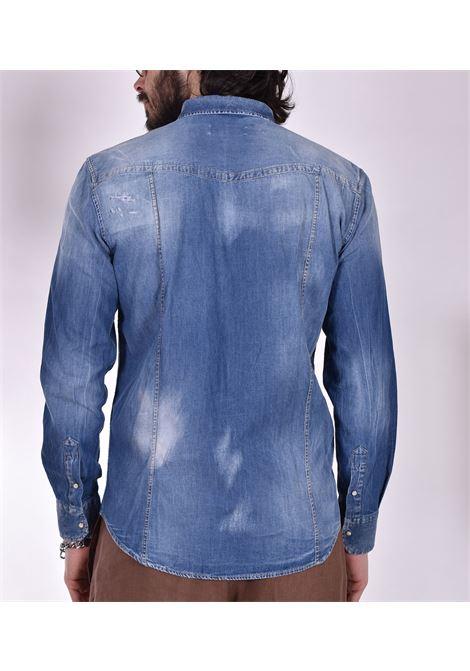 Camicia PMDS jeans sfumata leo Premium Mood Denim Superior | Camicie | LEO10