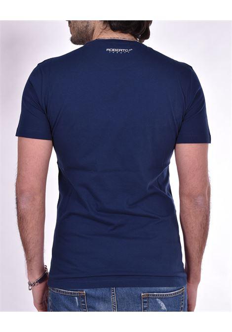 Roberto Pepe blue logo t-shirt ROBERTO PEPE | DS1802