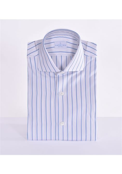 Sannino striped white blue shirt SANNINO | Shirts | A56701