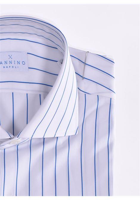 Camicia Sannino rigata bianca azzurro SANNINO | A56701