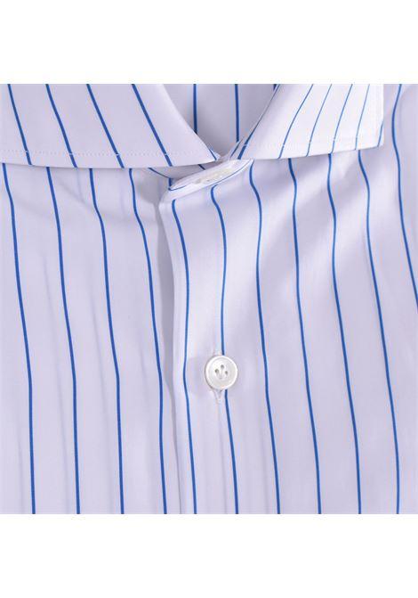 Camicia Sannino rigata bianca azzurro SANNINO | Camicie | A56701
