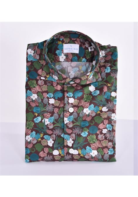Sannino brown flower shirt SANNINO | Shirts | A80303
