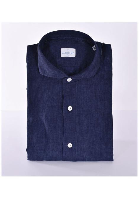 Camicia Sannino lino blu SANNINO | Camicie | A85401