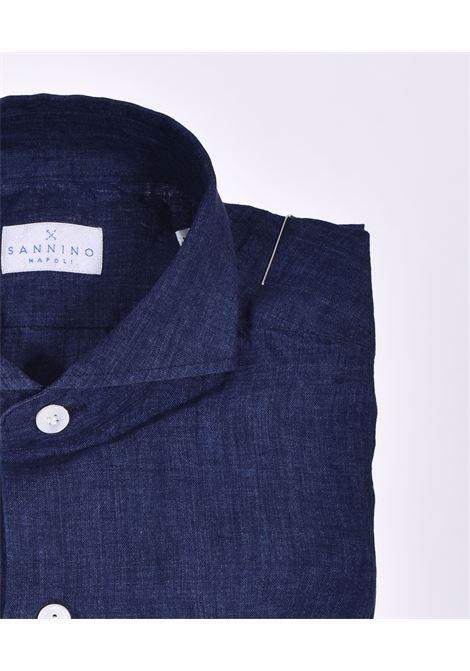 Camicia Sannino lino blu SANNINO | A85401