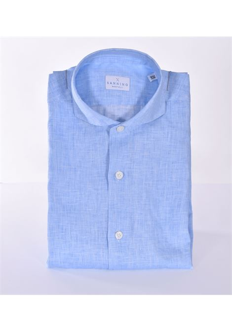 Sannino light blue linen shirt SANNINO | Shirts | CN396201
