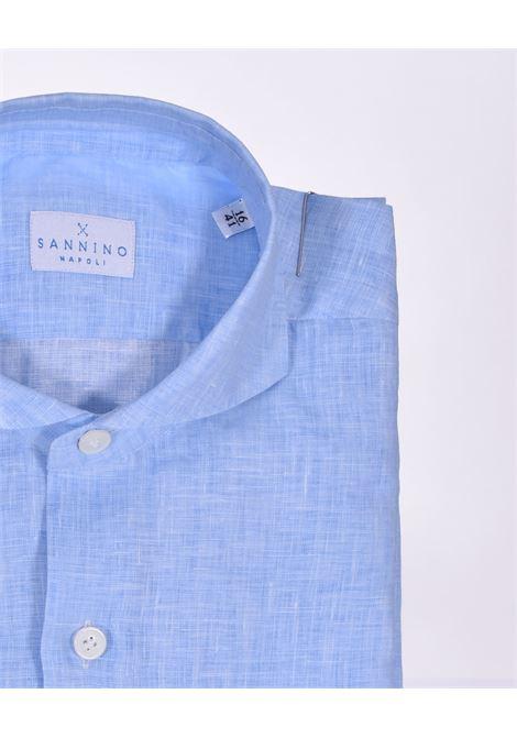 Camicia Sannino lino celeste SANNINO | CN396201