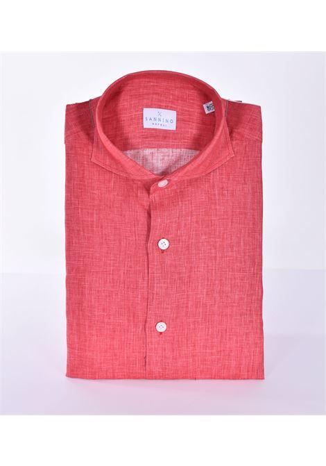 Sannino red linen shirt SANNINO | Shirts | CN396207