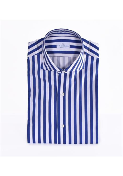 Royal blue striped Sannino shirt SANNINO | Shirts | M21502