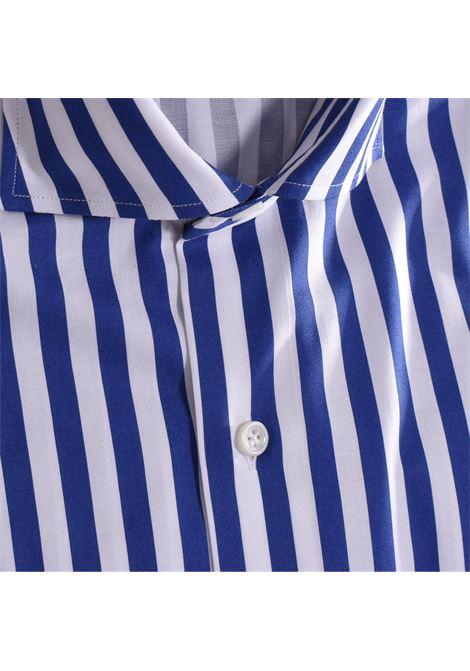 Royal blue striped Sannino shirt SANNINO | Shirts | M21502