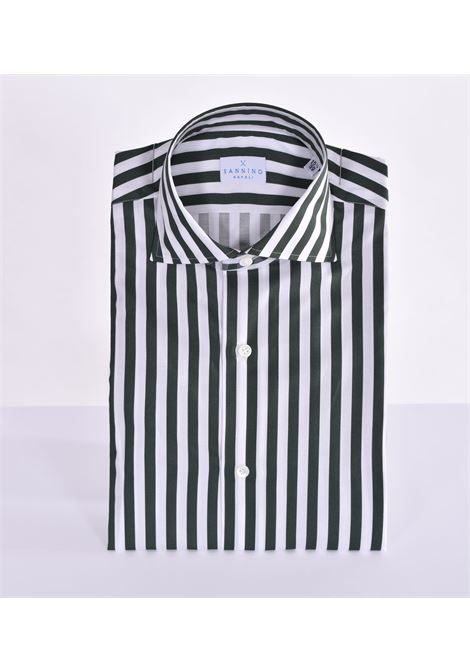 Sannino striped white green shirt SANNINO | Shirts | M21504