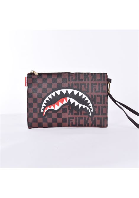 Sprayground split the check clutch bag SPRAYGROUND | pochette | B358901