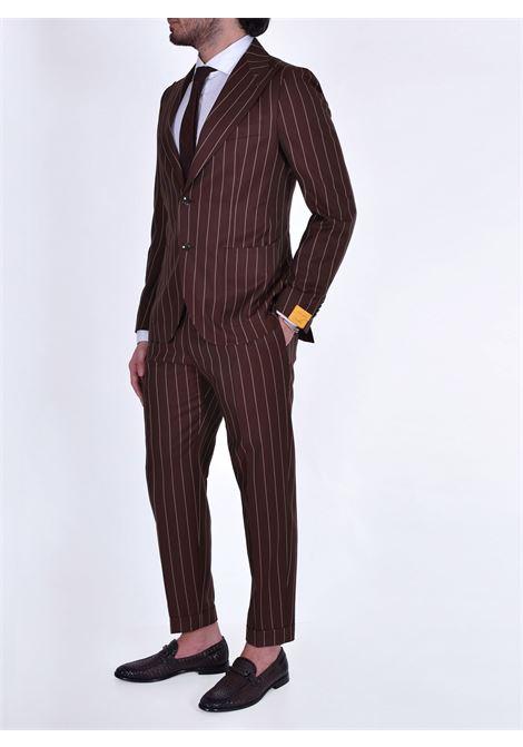 Pino Lerario brown pinstripe suit PL26KBR TAGLIATORE | Dresses | 12REA371EM866