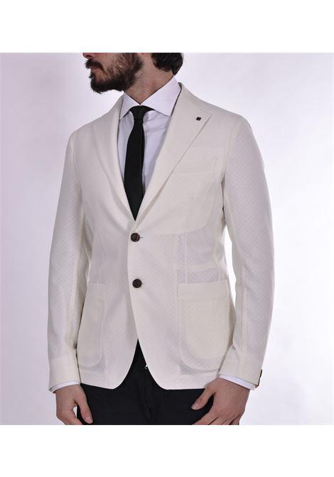 Giacca Tagliatore panna lana stretch G-Dakar22k TAGLIATORE | Giacche | 12UEG344EX931