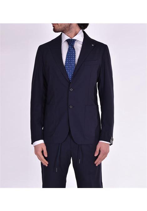 Tagliatore blue dress with dakar drawstring TAGLIATORE | Dresses | 18UEZ073B3079