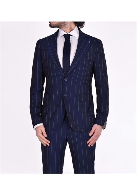Tagliatore blue pinstripe suit 2svs26b11 TAGLIATORE | Dresses | 52REA072B3117